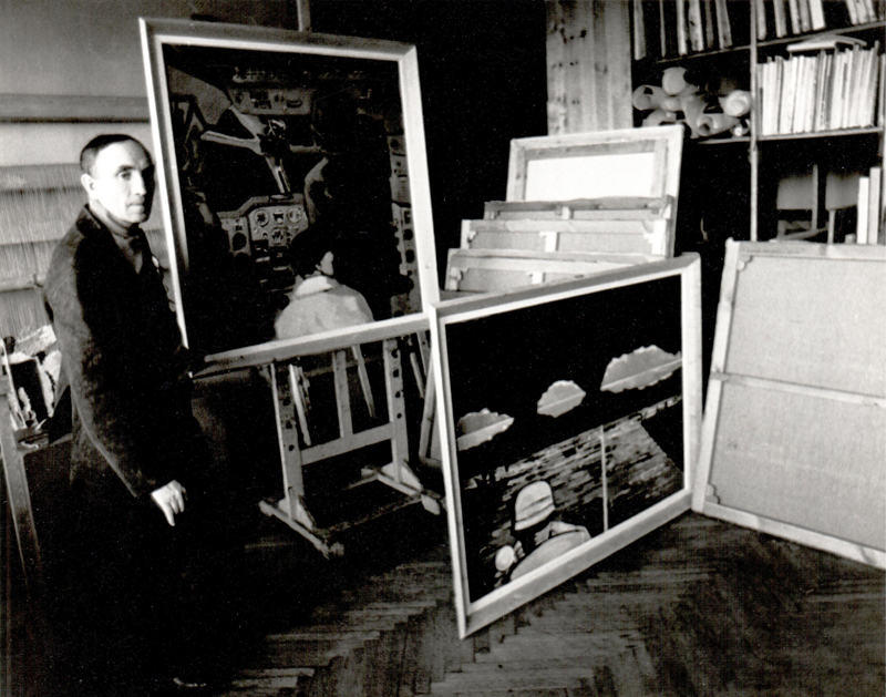 In the studio, 1976. Photograph: Sigitas Šimkus