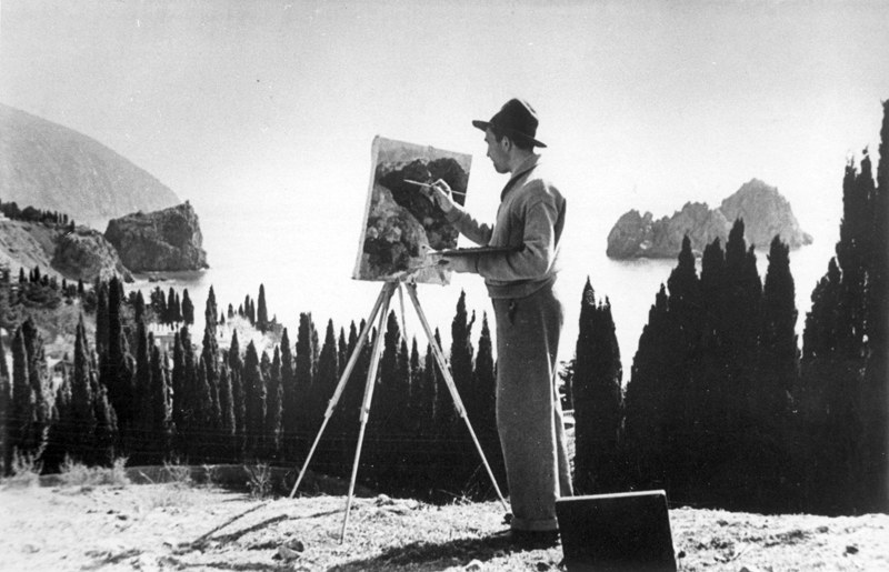 Plein air in Crymea, 1957